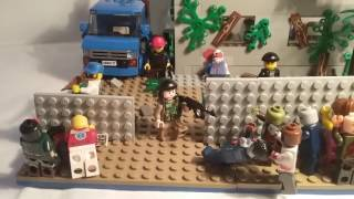Лего самоделка #41 на тему Ходячие мертвецы (старая кафешка)