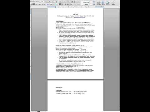 How To Format A Resume Using Line Spacing