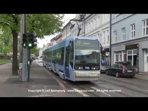 Oslo sporveier / trams at Olaf Ryes plass, Oslo, Norway