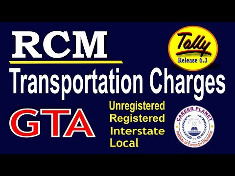 Tally for GST- Reverse Charge on Transportation Part 73|RCM on GTA Transportation Charges in Tally