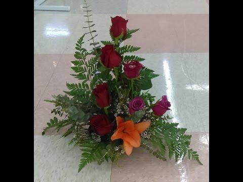 Como hacer arreglo floral hermoso y facil - YouTube - Arreglos Florales Bonitos