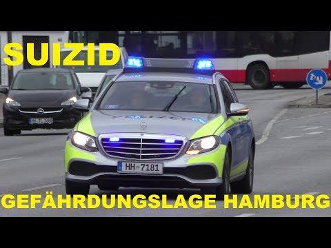 [GEFÄHRDUNGSLAGE - SUIZID] POLIZEIEINSATZ HAMBURG WANDSBEK