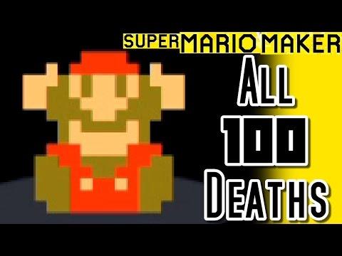 Super Mario Maker ALL 100 DEATHS in Super Expert Mode - 100 Mario Challenge (Wii U)