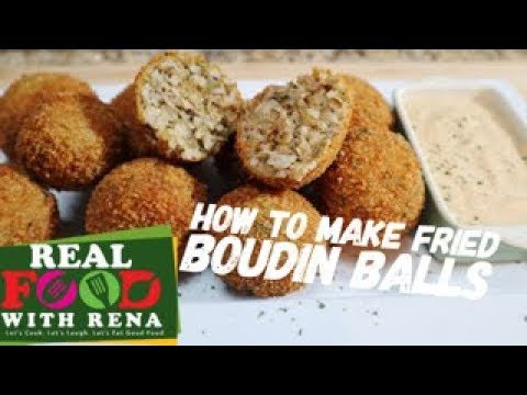 How To Make Fried Boudin Balls