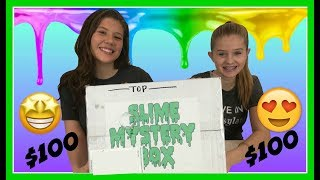 $100 MYSTERY SLIME BOX || Taylor and Vanessa