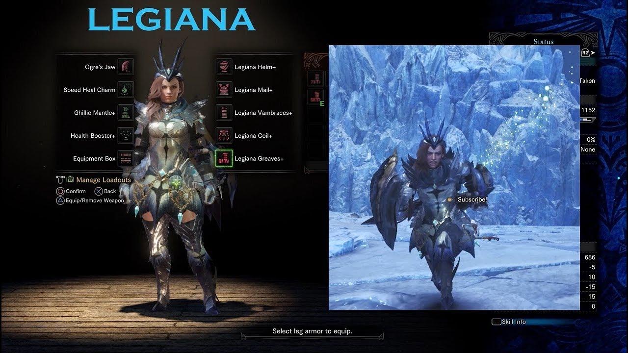Mhw Iceborn Demo Male And Female Armor Showcase Youtube