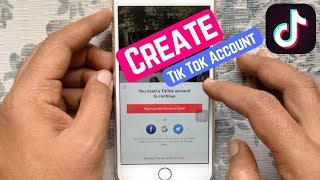 How to Create a New Tik Tok Account on iPhone
