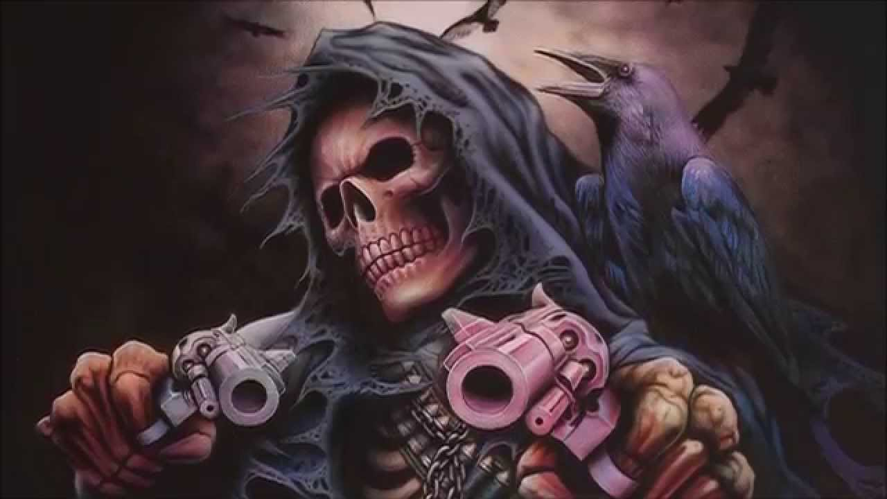 airbrush painting grim reaper skull killer youtube
