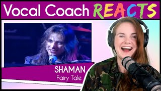 Vocal Coach reacts to André Matos SHAMAN - Fairy Tale Live YouTube Videos