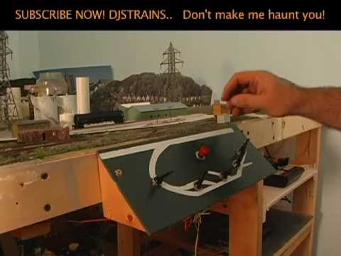 Model Railroad Control Panel, Wiring a KATO Switch, and Train Layout Room Ideas