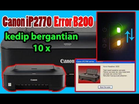 Mengatasi kedip lampu orange 4x pada Canon IP2770.