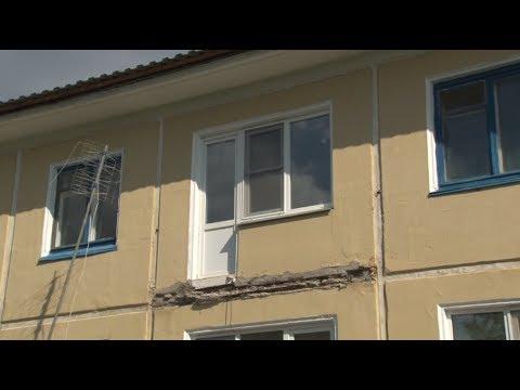 Сюжет ТСН24: Найден ответственный за обрушение балкона в Тепло-Огаревском районе