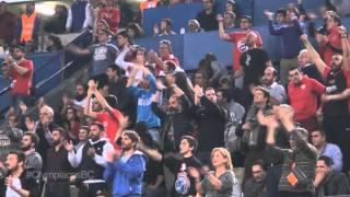 Ο φοβερός κόσμος του Ολυμπιακού με τη Χίμκι
