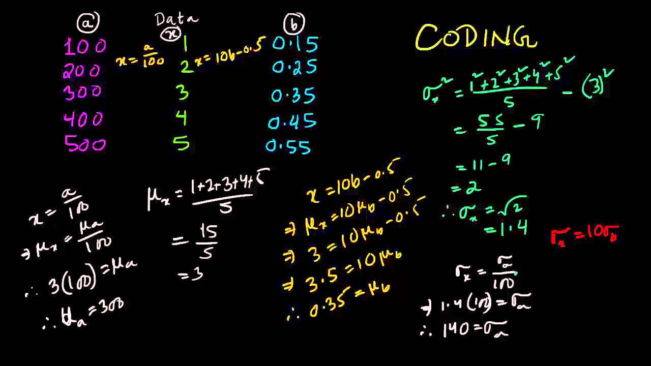 S1 how to use coding to find mean and standard deviation youtube s1 how to use coding to find mean and standard deviation ccuart Images