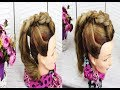 Easy Hairstyle For Long Hair Tutorial. Ponytail With Braids.