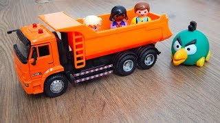 Машинка Самосвал Обзор и Распаковка игрушек машинок Видео для детей про машинки игрушки