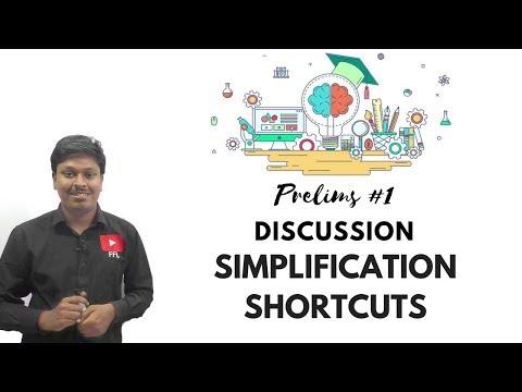 PRELIMS #1 Discussion (SIMLIFICATION SHORTCUTS)