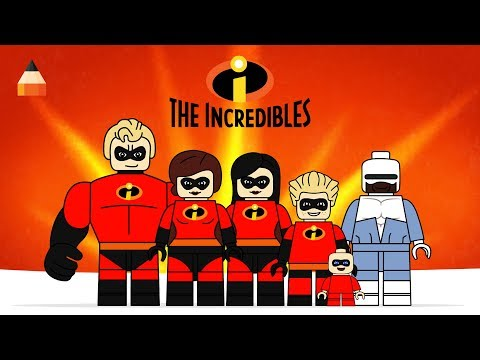 How To Draw Incredibles | Drawing LEGO Incredibles 2 Coloring Pages