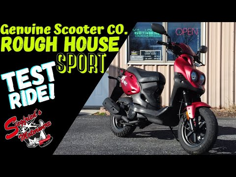 Riding a Genuine Scooter Co RoughHouse 50cc SPORT!  A zuma riders perspective!
