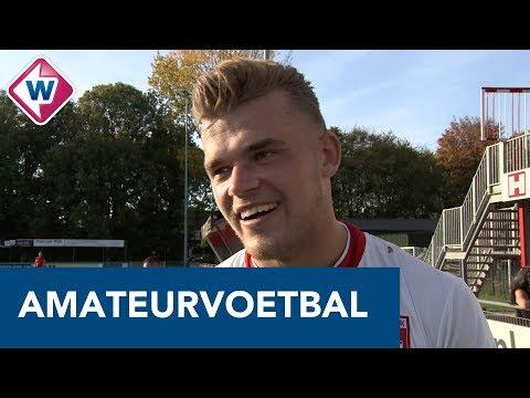 Nick van Staveren zingt 'Jouw blik' van John West na overwinning Noordwijk - OMROEP WEST SPORT