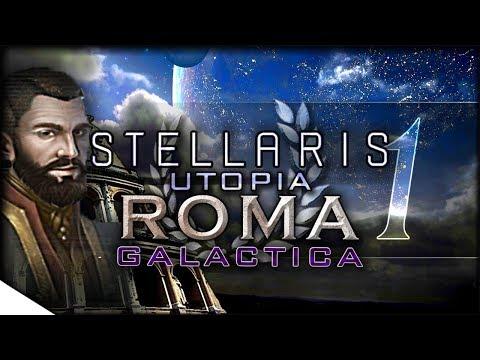 Utopia Gameplay, Banks Overview, & SPACE ROMANS | STELLARIS — Roma Galactica 1 | 1.5 Banks Update