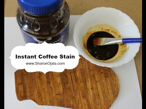 How To Use Instant Coffee Stain