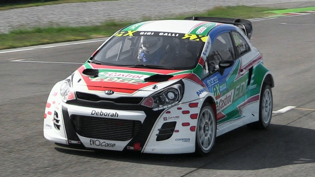 Gigi Galli Kia Rio Rx Supercar Shakedown At