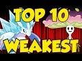 TOP 10 WEAKEST 7th GEN POKEMON in Pokemon Sun and Moon!