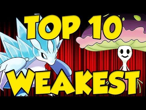 TOP 10 WEAKEST 7th GEN POKEMON in Pokemon Sun and Moon!
