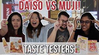 DAISO VS MUJI SNACKS | Taste Testers | EP 37