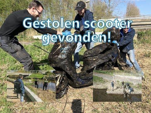 |  Magneetvissen | Samen met de politie een gestolen scooter uit het water halen ! | Vlog #21