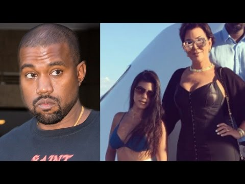 Kanye West Mad At Khloe, Kourtney Kardashian & Kris Jenner After Fashion Show