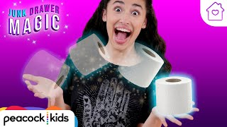 Magically Appearing Toilet Paper Trick | Kids Magic at Home | JUNK DRAWER MAGIC #stayhome #withme