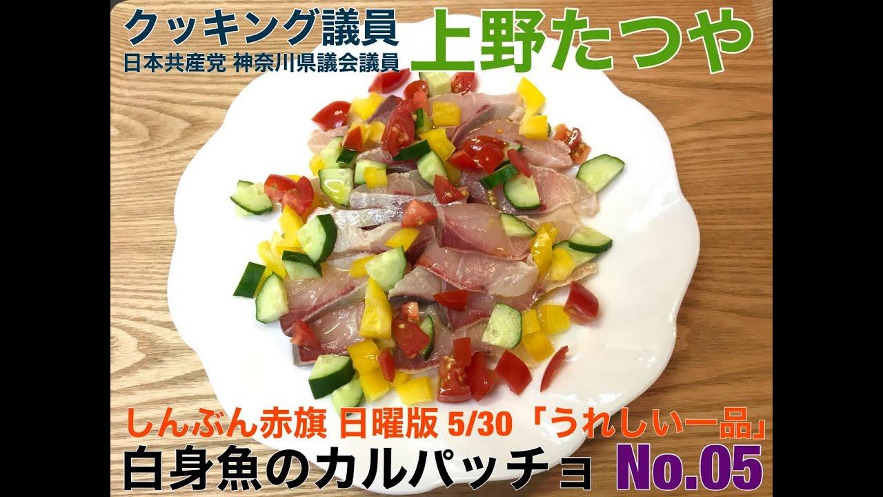 No.44 クッキング議員上野たつや 「No.5 白身魚のカルパッチョ」