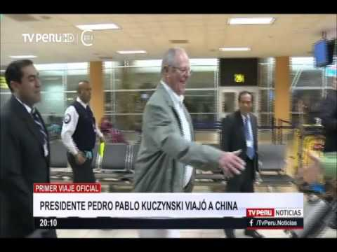 Presidente Pedro Pablo Kuczynski viajó a China