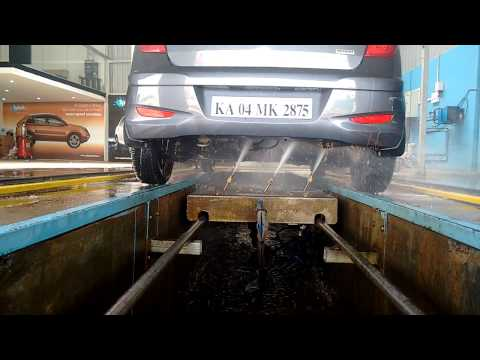 Robotic And Automatic Underbody Car Wash Demo By Manmachine