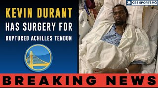Download Kevin Durant has SURGERY for ruptured Achilles tendon | Injury reaction | CBS Sports HQ Mp3 and Videos
