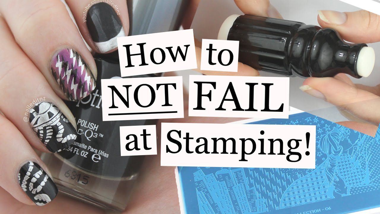 How To NOT FAIL At Stamping | Nail Art Tutorial | Nailed It NZ - YouTube