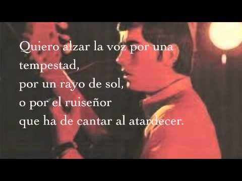 Ara que tinc vint anys. Joan Manuel Serrat (Letra Español).