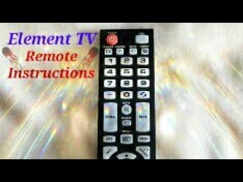 Element TV Remote Controller Instruction Manual