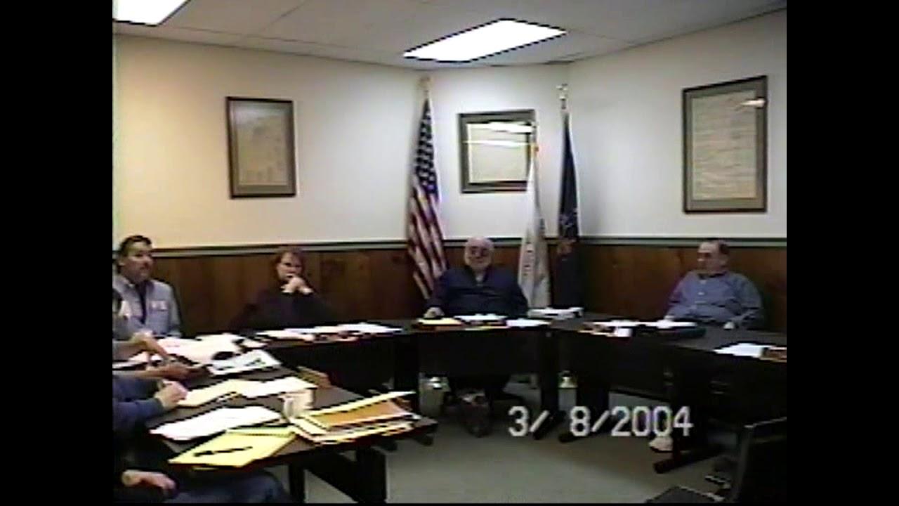 Champlain Village Board Meeting  3-8-04