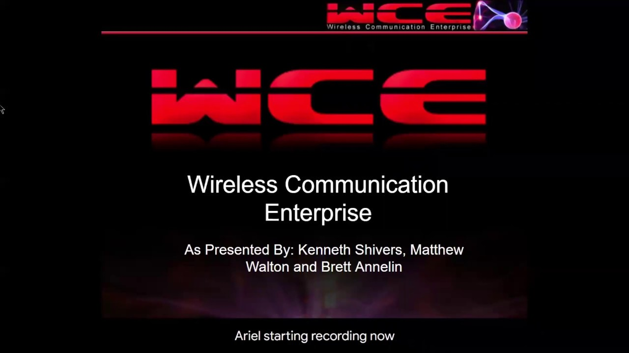 Preview image for 123: Wireless Communication Enterprise (WCE) video