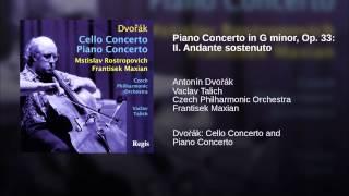 Piano Concerto in G minor, Op. 33: II. Andante sostenuto