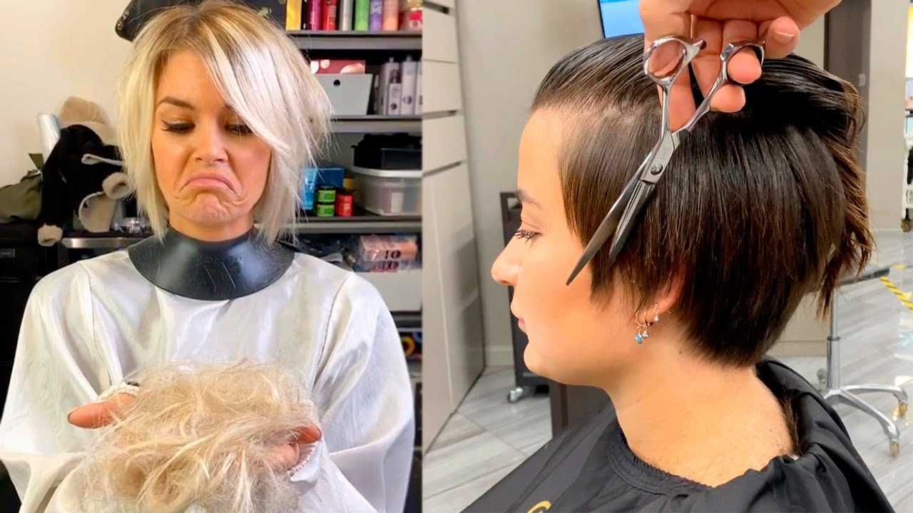 Short Haircuts & Simple Hairstyles Tutorials   Beautiful Hair Color Trends Fall 2020