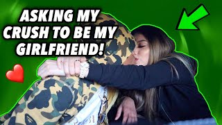 ASKING MY CRUSH TOO BE MY GIRLFRIEND ON CAMERA!!!!!