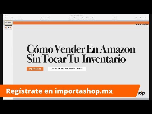 Cómo Vender en Amazon sin tocar tu inventario directamente