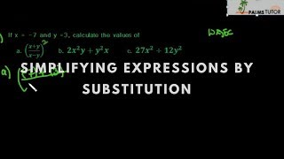 Simplifying Expressions by Substitution