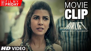 airlift movie clips 5   nimar kaur defends her husband akshay kumar