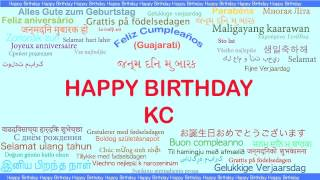 KC   Languages Idiomas - Happy Birthday