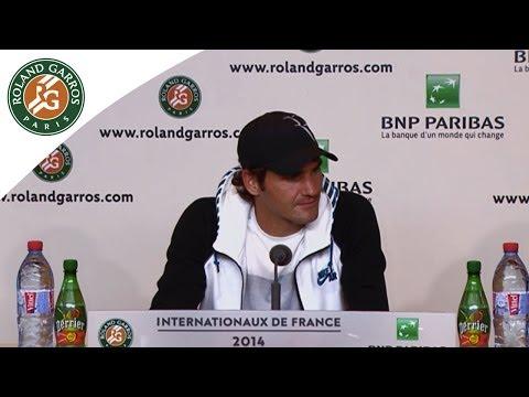 Conférence de presse Roger Federer Roland Garros 2014 1/8